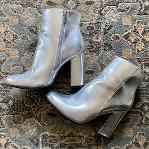 Silver/Chrome Ankle Boots